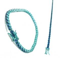 Anello con cristalli viola realizzato a mano misura regolabile