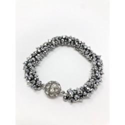 Bracciale luminoso argento...