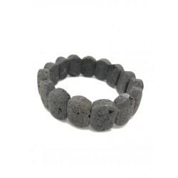 Bracciale nero in pietra...