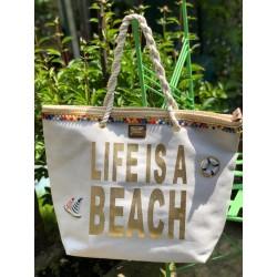 Borsa mare LIFE IS A BEACH...