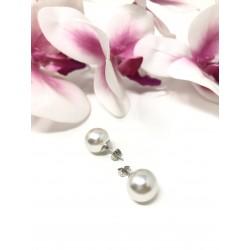 Orecchini perla bianca 15...