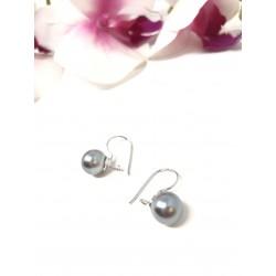 Orecchini perla grigia 10...