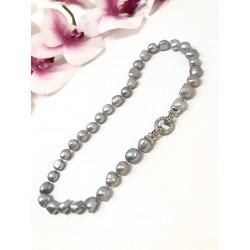 Collana grigio perla...