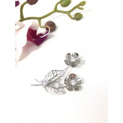Spilla brooch fiori argento...