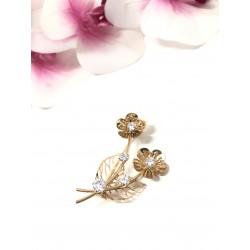Spilla brooch fiori dorati...