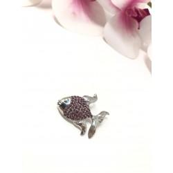 Spilla brooch Pesce argento...