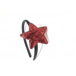 Cerchietto stella rossa...