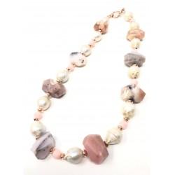 Collana Opale rosa in...